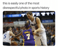 Basketball, Nas, and Nba: this is easily one of the most  disrespectful photo in sports history  CHIRS  NAS  5 tb caught them off guard 😂 nbamemes nba