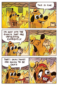 this is fine: THIS IS FINe.  I'm oKAY WITH THe  eveNTS THAT ARe  UNFOLDING  CURReNTLY.  THAT'S oKAY,THINGS  OKAY