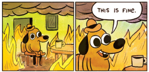 MRW Im working two jobs and on the verge of a mental breakdown but I cant quit either one because my wife and I are finally making headway on debt, but my boss at one job wont let me drop one shift a week to preserve my sanity. by ScottyFalcon MORE MEMES: THIS IS FINe.  OC MRW Im working two jobs and on the verge of a mental breakdown but I cant quit either one because my wife and I are finally making headway on debt, but my boss at one job wont let me drop one shift a week to preserve my sanity. by ScottyFalcon MORE MEMES