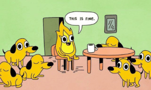 Reddit, Fine, and This: THIS IS FINe  OC Nobody panic