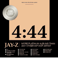 "Jay, Jay Z, and Life: THIS IS HIS 13TH STUDIO ALBUM  PLATINUM  TH  4:44  MORE PLATINUM ALBUMS THAN  ANY OTHER HIP HOP ARTIST  4:44  I WATCH THE THRONE  THE BLUEPRINT 3  ·AMERICAN GANGSTER  ICOLLISION COURSE  1 IN MY UFETIME, VOLUME I  UNANISHED BUSINESS  REASONABLE DOUBT  ● THE BLACK ALBUM  ·|THE BLUEPRINT  ●HARD KNOCK UFE, VOLUME 2  THE BLUEPRINT 2: THE GIFT  I MAGNA CARTER  KINGDOM COME  .|  HOLY GRAIL  AND THE CURSE  VOL3..LIFE AND TIMES  OF S. CARTER  ·|THE DYNASTY: ROC-LA-FAMILIA-|THE BEST OF BOTHWORLDS Congratulations goes out to Jay-Z on his album ""4:44"" being certified platinum!👏💯 @S_C_ https://t.co/RoRxuCEsG9"