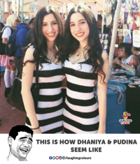 Indianpeoplefacebook, How, and This: THIS IS HOW DHANIYA & PUDINA  SEEM LIKE  OOOO/laughingcolours