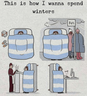 How, Taf, and This: This is how I wanna spend  winters  taf So, warm.