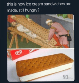 Hungry, Ice Cream, and How: this is how ice cream sandwiches are  made. still hungry?