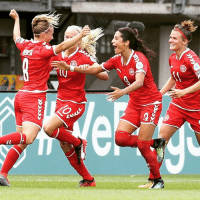 Finals, Memes, and Denmark: This is how it feels to knock the holders out of the @uefawomenseuro! Denmark are into the semi-finals after coming from behind to end @DFB_Frauenteam's bid for a seventh successive European title. Denmark Germany weuro2017
