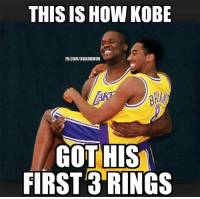 Kobe Haters be like...#LakeShow Credit: Kyle Manuel: THIS IS HOW KOBE  FB.COM/NBAHUMOR  GOT HIS  FIRST 3 RINGS Kobe Haters be like...#LakeShow Credit: Kyle Manuel