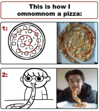 <p>How to cut your pizza. Forever alone edition.</p>: This is how |  omnomnom a pizza:  1:  2: <p>How to cut your pizza. Forever alone edition.</p>