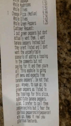 This is how you order a pizza: This is how you order a pizza