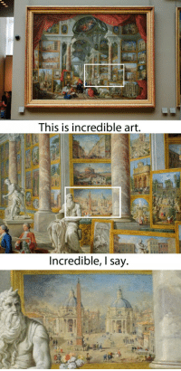 <p>Art Show Within A Painting.</p>: This is incredible art  Incredible, l say <p>Art Show Within A Painting.</p>