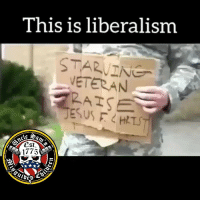 Jesus, Memes, and Liberalism: This is liberalism  STARVING  VETERAN  RATS  JESUS F HTS  17751 Lift your hand 🤚 if you have had to put someone in their place for being a poser 🙋🏽♂️