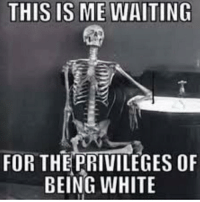 Me Waiting: THIS IS ME WAITING  FOR THEPRIVILEGES OF  BEING WHITE