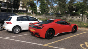 This is my car which I am very proud of. I parked it next to a Ferrari today.: This is my car which I am very proud of. I parked it next to a Ferrari today.