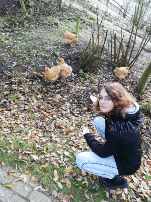 This is my gf and it's her b-day. She is also a fellow redditor. So it would really make her day if she would see herself at hot. So her is a photo of her with some chicken tendies :): This is my gf and it's her b-day. She is also a fellow redditor. So it would really make her day if she would see herself at hot. So her is a photo of her with some chicken tendies :)