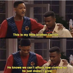 Take my money ! via /r/memes https://ift.tt/2L0asXO: This is my little brother Carlton.  He knows we can't afford new clothes so  he just doesn't grow Take my money ! via /r/memes https://ift.tt/2L0asXO