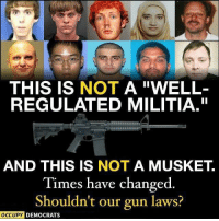 "9/11, Being Alone, and America: THIS IS NOT A ""WELL-  REGULATED MILITIA.""  AND THIS IS NOT A MUSKET.  Times have changed  Shouldn't our gun laws?  OCCUPY D  EMOCRATS <p><a href=""http://schweizerqualit.at/post/169647951974/theheartbrokenlibertarian"" class=""tumblr_blog"">schweizerqualitaet</a>:</p>  <blockquote><p><a href=""https://theheartbrokenlibertarian.tumblr.com/post/169639890186/inkedandproudinfidel-proudliberal11-lets"" class=""tumblr_blog"">theheartbrokenlibertarian</a>:</p><blockquote> <p><a href=""https://inkedandproudinfidel.tumblr.com/post/169567922822/proudliberal11-lets-regulate-the-unregulated"" class=""tumblr_blog"">inkedandproudinfidel</a>:</p> <blockquote> <p><a href=""https://proudliberal11.tumblr.com/post/169279939060/lets-regulate-the-unregulated-populace"" class=""tumblr_blog"">proudliberal11</a>:</p>  <blockquote><p>Let's regulate the unregulated populace!</p></blockquote>  <p>No they shouldn't…</p> <p>All those above broke many laws in what they did including the possession of those firearms and it did nothing to save lives. Stop being ignorant…</p> </blockquote> <p>OH MY GOSH. THIS SHIT AGAIN?</p> <p>Okay, I'm bringing this back. Sorry to alla yall who've had to sit through this before. But for fuuuuuuuuuuuck's saaaaaaaaaake people!</p> <p><br/></p> <p><b>Where does the Second Amendment say ""musket""? Show me where it says musket. In fact, show me where it even says <i>GUNS</i>. Show me where it puts ANY limits on what <a href=""https://en.oxforddictionaries.com/definition/arms""><i>arms</i></a> we can keep and bear. Show me the words.</b></p> <p><b>You cannot; they are not there.</b></p> <p><a class=""tumblelog"" href=""https://tmblr.co/mcpMWUpnSYWxH6sA7gfOiUg"">@proudliberal11</a> If what you posted is really what you believe - and I do <i>honestly </i>mean this in the nicest possible way - then you are not qualified to speak on the subject of the Second Amendment with any modicum of authority. You can have your own feelings and opinions, <i>of course</i>, but you clearly do not have the <i>facts</i>, and you do not understand the law, its adoption, the reasons behind it, or its intent. If you just want guns gone or want new laws, then simply petition the government to begin the process of repealing the Second Amendment and/or amending the Constitution (good luck with that, though), but <i>please </i>don't try to change or erase history!</p> <p><b>There is NO DEBATE on the meaning or intent of the Second Amendment.</b> That was settled and made clear <i>a long time ago</i>, and it has nothing to do with what you think a ""militia"" is, for one thing, and nothing to do with ""muskets"" either, for that matter. </p> <p>The Founding Fathers didn't just shit out the Constitution and the Bill of Rights overnight or off the top of their heads. They didn't forget about it until the night before it was due. These things were discussed and debated and researched and proven over the course of <b><i>several </i></b><i><b>months</b></i>, and <a href=""https://www.loc.gov/rr/program/bib/ourdocs/billofrights.html"">those discussions and debates were thoroughly documented</a>. This drafting would have been equivalent to the 9/11 news coverage of the day! It was a BIG DEAL, even then; they knew they were building history. People were watching, recording, discussing everywhere. It's ALL written down.</p> <p>The Framers were <i>extremely clear</i> about exactly what they intended, solid evidence of which you can find by studying <a href=""http://cap-n-ball.com/fathers.htm"">contemporary literature</a> and documentation <a href=""https://wallbuilders.com/founders-second-amendment/"">surrounding the authoring</a> of the Second Amendment. Letters, speeches, publications, etc., <a href=""http://www2.law.ucla.edu/volokh/2amteach/sources.htm"">written by and to the framers</a>, as well as the public, - which <a href=""https://www.google.com/url?q=https%3A%2F%2Feducation.blogs.archives.gov%2F2016%2F05%2F10%2Fteaching-the-second-amendment%2F&amp;sa=D&amp;sntz=1&amp;usg=AFQjCNH7ovpuftRdhqKahPIpnnED_tmYGA"">clearly spell out</a> the full intent of the law, <a href=""http://www.constitution.org/2ll/2ndschol/19adec.pdf"">explain the law</a> in simple terms, and give insight into popular and official <a href=""https://www.buckeyefirearms.org/gun-quotations-founding-fathers"">opinion about the law</a> - are still freely available today. I've linked a handful, but it's very easy to find this information, and I encourage - nay, <i>beg </i>- you to seek it out. </p> <p>Here are just a few examples, though, in case you don't feel like researching something so extremely important:</p> <blockquote> <p><b>—–&gt; ""I ask who are the <i>militia</i>? They consist now of <i>the whole people</i>, except a few public officers.""</b><br/>- George Mason, Address to the Virginia Ratifying Convention, June 4, 1788 </p> <p><b>""The right of the people to keep and bear arms shall not be infringed. A well regulated militia, <i><u>composed of the body of the people</u></i>, trained to arms, is the best and most natural defense of a free country.""</b><br/>- James Madison, I Annals of Congress 434, June 8, 1789 <br/></p> <p><b> ""No free man shall ever be debarred the use of arms.""</b><br/>- Thomas Jefferson, Virginia Constitution, Draft 1, 1776 <br/></p> <p><b>""To preserve liberty, it is essential that <u><i>the whole body of the people</i> always possess <i>arms</i></u>, and be taught alike, <i>especially when young</i>, how to use them."" </b><br/>- Richard Henry Lee, Signer of the Declaration, A Framer of the Second Amendment in the First Congress<br/></p> <p><b>""What country can preserve its liberties if their rulers are not warned from time to time that <i>their people</i> preserve the spirit of resistance? Let them take arms.""</b><br/>- Thomas Jefferson, letter to James Madison, December 20, 1787 <br/></p> <p><b>[On our military superiority over a tyrannical enemy] …This difference is ascribed to our superiority in taking aim when we fire; <i>every soldier in our army having been intimate with his gun from his infancy</i>.""</b><br/>- Thomas Jefferson, letter to Giovanni Fabbroni, June 8, 1778 <br/></p> <p><b>""To disarm the people…[i]s the most effectual way to enslave them.""</b><br/>- George Mason, The Debates in the Several State Conventions on the Adoption of the Federal Constitution, June 14, 1788</p> <p><b>""Before a standing army can rule, the people must be disarmed, as they are in almost every country in Europe. The supreme power in America cannot enforce unjust laws by the sword; <i><u>because the whole body of the people are armed</u></i>, and constitute a force superior to any band of regular troops.""</b><br/>- Noah Webster, An Examination of the Leading Principles of the Federal Constitution, October 10, 1787</p> </blockquote> <p>That could not be more clear. This ""militia"" is us. It's you and me and everyone reading this and everyone else. <b>THE MILITIA IS THE PEOPLE, THE CITIZENS, YOU AND ME.</b></p> <p>If nothing else, please do take a look at <a href=""http://www.guncite.com/journals/vandhist.html""><b>THIS DOCUMENT</b></a>. It lays out the history and the clear reasoning behind the Founding Fathers' drafting of the Second Amendment. It is thoroughly sourced, and it is detailed.</p> <p>As you can see, looking at what is here, juxtaposed with what we have in place today, we have already strayed extremely far from the original intent of the document as well as from the letter of its law - we have already infringed our God-given (and merely government-<i>protected</i>) inalienable rights to hell and back - and we the people are NOT happy to give away another inch, no matter how ""mean"" you <i>feel</i> icky-o guns may be.</p> <p>And as for the document itself:<br/><br/></p> <h2><b>Let me break the Second Amendment down for you.</b></h2> <p><i>BUT FIRST!</i> Before I get into that, you <i>must u</i>nderstand that <i><b>language is fluid</b></i> and that it changes over the years, that the definitions of words change and adapt all the time. For example, the word ""great"" used to exclusively mean very large, the word ""terrible"" used to exclusively mean awe-inspiringly, the word ""sick"" used to exclusively mean ill, the word ""woman"" used to exclusively mean adult person born with a vagina, and so on. Therefore, you must look at the words and phrasing from the point of view of 1791, the <i>time it was written</i>, and you can't apply our current use of language to it, and you must keep that in mind as you read older texts. And just because <i>language changes</i>, that does NOT mean the original intent of words changes, too. Quite the contrary.</p> <blockquote><p><b>""On every occasion [of Constitutional interpretation] let us carry ourselves back to <i>the time when the Constitution was adopted</i>, recollect the spirit manifested in the debates, and instead of trying [to force] what meaning may be squeezed out of the text, <i>or invented against it</i>, [instead let us] conform to the probable one in which it was passed.""</b><br/>- Thomas Jefferson, letter to William Johnson, 12 June 1823 <br/></p></blockquote> <p>ALSO:</p> <blockquote><p>  <b>Do not separate text from historical background. If you do, you will have perverted and subverted the Constitution, which can only end in a distorted, bastardized form of illegitimate government. <br/></b>– James Madison, on the creation of the Constitution<br/></p></blockquote> <p>So ok, sit tight, here we go.</p> <h2><b>A well regulated Militia, being necessary to the security of a free State, the right of the people to keep and bear Arms, shall not be infringed.</b></h2> <blockquote><p><b>A <i>WELL REGULATED</i></b></p></blockquote> <p><b><a href=""http://t.umblr.com/redirect?z=http%3A%2F%2Fwww.constitution.org%2Fcons%2Fwellregu.htm&amp;t=ODBlNzBjMmRjNjk4OGI5MmVkZjU3YjYzODk0N2YxYjEzYzY4YTRmNSxGN2JTdzltTg%3D%3D&amp;b=t%3ApSGGrWU9DzQQaxySKrEZGw&amp;p=https%3A%2F%2Ftheheartbrokenlibertarian.tumblr.com%2Fpost%2F167250537641%2Fshadows-ember-saltrat88-argangbang&amp;m=1"">MEANS</a>:</b> hooked up; well outfitted; well provided for; has lots of all the latest and greatest things; well-armed<br/><b>DOES <i>NOT </i>MEAN:</b> heavily legislated; under intense governmental scrutiny; subject to lots of laws and ordinances</p> <blockquote><p><b>MILITIA</b></p></blockquote> <p><b><a href=""http://t.umblr.com/redirect?z=http%3A%2F%2Fwww.constitution.org%2Fmil%2Fcs_milit.htm&amp;t=ZjA3NGRjMzQ2YThkZjE2YzE3NWFkMWFiNmYwOGY3ZmQ2Zjg0MTVjMyxGN2JTdzltTg%3D%3D&amp;b=t%3ApSGGrWU9DzQQaxySKrEZGw&amp;p=https%3A%2F%2Ftheheartbrokenlibertarian.tumblr.com%2Fpost%2F167250537641%2Fshadows-ember-saltrat88-argangbang&amp;m=1"">MEANS</a>:</b> the populace; a general, unofficial body of those citizens physically able to engage themselves in combat; those of us who have guns; a self organized and self managed group of people gathered for the purposes of defense<br/><b>DOES <i>NOT </i>MEAN:</b> official, government-sanctioned, -approved, and -run military installment that is slightly less formal than the Armed Forces; a junior or local sub-branch of the federal Armed Forces</p> <blockquote><p><b>BEING NECESSARY TO</b></p></blockquote> <p><b>MEANS:</b> is the reason why; is required for; also, the wording here, and the preceding comma, replaces using ""because this…"" at the beginning of the sentence as we would use it today - it's just rearranged<br/><b>DOES <i>NOT </i>MEAN:</b> if it becomes needed; only when needed; in times of threat but not otherwise</p> <blockquote><p><b>THE SECURITY OF A FREE STATE</b></p></blockquote> <p><b><a href=""http://t.umblr.com/redirect?z=http%3A%2F%2Fwww.constitution.org%2Flrev%2Frkba_wayment.htm&amp;t=MGUxYjczZTRmOTZmMTE2NmE5NDA2MGQ3MWNlZTdkZWU4NjJiOGNiMyxGN2JTdzltTg%3D%3D&amp;b=t%3ApSGGrWU9DzQQaxySKrEZGw&amp;p=https%3A%2F%2Ftheheartbrokenlibertarian.tumblr.com%2Fpost%2F167250537641%2Fshadows-ember-saltrat88-argangbang&amp;m=1"">MEANS</a>:</b> the defense of freedoms; the protection of rights and freedoms; maintaining sovereignty; protection from takeover (foreign or domestic)<br/><b>DOES <i>NOT</i> MEAN:</b> keeping us safe from any danger whatsoever; the protection of individuals from individuals</p> <blockquote><p><b>THE <i>RIGHT</i></b></p></blockquote> <p><b><a href=""http://t.umblr.com/redirect?z=http%3A%2F%2Fwww.constitution.org%2Fbillofr_.htm&amp;t=Njc3NjE5YWJhYTc0M2E2YWVlZjNmNTc0MzQ0NjYzOWJmMWI0ODEyZCxGN2JTdzltTg%3D%3D&amp;b=t%3ApSGGrWU9DzQQaxySKrEZGw&amp;p=https%3A%2F%2Ftheheartbrokenlibertarian.tumblr.com%2Fpost%2F167250537641%2Fshadows-ember-saltrat88-argangbang&amp;m=1"">MEANS</a>:</b> full personal entitlement; the freedom; the free ability; the personal decision whether or not to; the God-given, free and clear, dependent only upon existing, choice<br/><b>DOES <i>NOT</i> MEAN:</b> sometimes, depending upon some people's opinion, the ability to; the ability to, dependent upon whether or not one is allowed</p> <blockquote><p><b>OF <i>THE PEOPLE</i></b></p></blockquote> <p><b><a href=""http://t.umblr.com/redirect?z=https%3A%2F%2Fwww.1215.org%2Flawnotes%2Flawnotes%2Fpvc.htm&amp;t=MGYzNWJjNjczNWM0MWFjNWQ2YWQ1MjVjMGVlNmE5NjI0ZmE2MGU4ZixGN2JTdzltTg%3D%3D&amp;b=t%3ApSGGrWU9DzQQaxySKrEZGw&amp;p=https%3A%2F%2Ftheheartbrokenlibertarian.tumblr.com%2Fpost%2F167250537641%2Fshadows-ember-saltrat88-argangbang&amp;m=1"">MEANS</a>:</b> all legal inhabitants; all citizens of legal age of majority/responsibility<br/><b>DOES <i>NOT</i> MEAN:</b> some citizens, if they meet certain criteria; those citizens who have certain abilities or characteristics; only those citizens who qualify; citizens who meet certain restrictions or requirements; all citizens except those who do not meet certain qualifications</p> <blockquote><p><b>TO <i>KEEP AND BEAR</i></b></p></blockquote> <p><b><a href=""http://t.umblr.com/redirect?z=https%3A%2F%2Fen.oxforddictionaries.com%2Fdefinition%2Farms&amp;t=NmU0NWU3MTE2ODQxYjFjOGVhNmY3Mjg3NmYzMTc1NDRiYTc4YjcyMSxGN2JTdzltTg%3D%3D&amp;b=t%3ApSGGrWU9DzQQaxySKrEZGw&amp;p=https%3A%2F%2Ftheheartbrokenlibertarian.tumblr.com%2Fpost%2F167250537641%2Fshadows-ember-saltrat88-argangbang&amp;m=1"">MEANS</a>:</b> to participate in any actions associated with; to possess and carry and use in any manner; to have; to acquire; to carry on their person or in their conveyance<br/><b>DOES <i>NOT</i> MEAN:</b> to simply have and carry; to own but have stored elsewhere; to be issued as and when, according to circumstances; to have a limited number of; to own but leave administration of to others; to have but with restrictions</p> <blockquote><p><b><i>ARMS</i></b></p></blockquote> <p><b><a href=""http://t.umblr.com/redirect?z=http%3A%2F%2Fwww.guncite.com%2Fgc2ndmea.html&amp;t=NTU2MTExYWRkOGMwMWFlYzczNjNkYWQxOGNmMmZhZDBkZTQ5MjUyYixGN2JTdzltTg%3D%3D&amp;b=t%3ApSGGrWU9DzQQaxySKrEZGw&amp;p=https%3A%2F%2Ftheheartbrokenlibertarian.tumblr.com%2Fpost%2F167250537641%2Fshadows-ember-saltrat88-argangbang&amp;m=1"">MEANS</a>:</b> weapons or armament of any kind; offensive or defensive weapons; ordnance; guns, missiles, swords, knives, cannon, explosives; ammunition for weapons; any instrument intended for defense or offense against any person or thing; any item necessary to operate or maintain the above<br/><b>DOES <i>NOT</i> MEAN:</b> certain kinds of weapons; some but not all defensive implements</p> <blockquote><p><b>SHALL NOT BE</b></p></blockquote> <p><b>MEANS:</b> must never, ever, under any circumstances, be, <i>no matter what</i><br/><b>DOES <i>NOT</i> MEAN:</b> should not be; will hopefully not be; can only be under some conditions; can be, if legally restricted; is allowed to be if new laws are created</p> <blockquote><p><b>INFRINGED</b></p></blockquote> <p><b><a href=""http://t.umblr.com/redirect?z=https%3A%2F%2Fwww.thefreedictionary.com%2Finfringed&amp;t=NDU0MDA2NjU4MzUwYmQ4MzczZjJkNTEzNDM2ZTUwZTBlYzUzOGQ5ZSxGN2JTdzltTg%3D%3D&amp;b=t%3ApSGGrWU9DzQQaxySKrEZGw&amp;p=https%3A%2F%2Ftheheartbrokenlibertarian.tumblr.com%2Fpost%2F167250537641%2Fshadows-ember-saltrat88-argangbang&amp;m=1"">MEANS</a>:</b> taken away; restricted in any way; put conditions or requirements upon; diminished; changed or updated; made new laws about; limited in any way; re-legislated; detracted from; invalidated<br/><b>DOES <i>NOT</i> MEAN:</b> taken away, <i>unless </i>lots of people think it should be; changed, <i>unless </i>opinions change; updated, <i>if</i> people think that's what they want<br/></p> <p>THEREFORE, were the second amendment written today, it would read:<br/></p> <h2><b>Because a <i>thoroughly hooked up</i> and <i>well-armed</i> <i><u>population</u> </i>is the only way our nation will ever be able to remain free and sovereign, and the only way we will ever keep our precious rights and liberties, <i>every single citizen of this country</i> is freely allowed to <i>possess </i>any <i>firearm or weapon </i>and to <i>use </i>said weapon in any way, and nobody is allowed to ever change, <b>restrict, or limit </b>laws about, or prevent any citizen from owning, keeping, or using <i>any kind of firearm or weapon</i>, even if people <i>think</i> that's what they want.</b></h2> <p>Just to reiterate the parts that people most often misunderstand:</p> <p><b><i>Well-regulated</i> DOES NOT MEAN strictly governed</b>. It means well <i>outfitted</i>, hooked the fuck up.</p> <p><b><i>Militia </i>DOES NOT MEAN official, state sanctioned, junior or local branch of the federal armed forces</b>. It means citizens with guns, and that's it. In fact, the Framers did not want a federal- (or state-) run standing military; they saw that as a threat to liberty. It's very clear that what they meant was THE PEOPLE.</p> <p><b><i>Keep and bear</i> DOES NOT MEAN simply possess and carry</b>. It means participate in any and all associated activities.</p> <p><i><b>Arms </b></i><b>DOES NOT MEAN</b> guns, or certain guns, or guns with certain features. It means <i>weapons</i>, of any kind.</p> <p>Just look these things up, <i>please</i>, or follow the links provided.</p> <p><b>–&gt;</b> And <i>COME ON</i>. Use just a little common sense. If the Second Amendment were written exclusively to arm the military, or police, or officially government sanctioned militias, then WHY would it very explicitly say <b>the right of <i><u>THE PEOPLE</u></i> to keep and bear arms</b>…? Why would these educated, intelligent, careful, and conscientious men make such a stupid contradiction in one of the most important documents they'd ever written? That's simply ridiculous! They didn't make any mistakes, and we haven't been somehow blindly running the country wrong for 230 years. It's written correctly, and the meaning of it is quite clear if you just read past the first few words. </p> <blockquote><p>The right of <i><b>THE PEOPLE</b></i> to keep and bear <b>arms</b> shall not be infringed.</p></blockquote> <p>That's unmistakable. Really.<br/><br/></p> <h2><b>AND AS FOR THE <i>ARMS</i> THEMSELVES..</b></h2> <p><b><i>Nowhere </i>does the Second Amendment (written in 1791) say <i>anything </i>about muskets, nor even <i>guns</i>, nor does it mention or even insinuate <i>any</i> limitation on what arms a person can keep and bear.</b></p> <p>Even further, in case you somehow actually didn't know this, there were basically fully automatic machine guns BEFORE the Second Amendment was written, and <i>yes indeed</i>, these were known and accounted for when the document was drafted.</p> <p><b><a href=""https://en.wikipedia.org/wiki/Pepper-box"">Pepper-box revolver</a> from 1790 or earlier</b><br/></p> <figure class=""tmblr-full"" data-orig-height=""320"" data-orig-width=""440""><img src=""https://78.media.tumblr.com/32125f9701fe79560a11c06e34c082c6/tumblr_inline_oyyuzsEla71tnietr_500.jpg"" data-orig-height=""320"" data-orig-width=""440""/></figure><p><b><a href=""https://en.wikipedia.org/wiki/Puckle_gun"">Puckle gun</a>, invented in 1718 (complete with relevant text)</b><br/></p> <figure class=""tmblr-full"" data-orig-height=""392"" data-orig-width=""500""><img src=""https://78.media.tumblr.com/47df142ced1c43b4e6f86e8d11595433/tumblr_inline_ozbyg7l6UX1suj1m1_500.png"" data-orig-height=""392"" data-orig-width=""500""/></figure><p><b><a href=""https://en.wikipedia.org/wiki/Belton_flintlock"">Belton flintlock rifle</a>, 1777 </b><br/></p> <figure class=""tmblr-full"" data-orig-height=""310"" data-orig-width=""500""><img src=""https://78.media.tumblr.com/8509f4782b2214c8fce1d957d98c1243/tumblr_inline_oyyuzs6rzo1tnietr_500.jpg"" data-orig-height=""310"" data-orig-width=""500""/></figure><p><b><a href=""https://en.wikipedia.org/wiki/Girandoni_air_rifle"">Girandoni air rifle</a>, 1779 </b><br/></p> <figure class=""tmblr-full"" data-orig-height=""173"" data-orig-width=""300""><img src=""https://78.media.tumblr.com/5e95ac5b5241961bbd16e3ee1fface9c/tumblr_inline_oyyuzsE6yV1tnietr_400.jpg"" data-orig-height=""173"" data-orig-width=""300""/></figure><p>(Thank you <a>@guns-and-freedom</a>​ for this list.)</p> <p>And that's only a few of the <i>guns</i>. I haven't even mentioned all the other kinds of <i><b>ARMS</b></i> that were available <a href=""http://www.americanrevolution.org/artillery.php"">before the Second Amendment was written</a>, those <b><i>ARMS</i></b> upon which no restriction shall ever be put, according to the Constitution and Bill of Rights:</p> <p><b>MORTARS</b></p> <p>Mortars are projectile launching arms that have been in use since the <b>1400s</b>.</p> <p>By 1775, there were nine different Land Service and four Sea Service Mortars in the British inventory alone.<br/></p> <figure class=""tmblr-full"" data-orig-height=""346"" data-orig-width=""500""><img src=""https://78.media.tumblr.com/0199ff1c14b01cdb4b9015bbf4b0d335/tumblr_inline_ozbzkpmB9O1suj1m1_500.jpg"" data-orig-height=""346"" data-orig-width=""500""/></figure><figure class=""tmblr-full"" data-orig-height=""221"" data-orig-width=""500""><img src=""https://78.media.tumblr.com/bea14ef96990869cc3a10d2464758a9a/tumblr_inline_ozbzl945Cd1suj1m1_500.jpg"" data-orig-height=""221"" data-orig-width=""500""/></figure><p>This <a href=""http://www.warmuseum.ca/cwm/exhibitions/gallery1/clash5_e.shtml"">French mortar</a> formed part of the defenses of Louisbourg during the British siege of <b>1758</b>. Made of cast iron, it could propel a 60-kilogram (132lb) shell up to four kilometers (2.5mi):</p> <figure class=""tmblr-full"" data-orig-height=""283"" data-orig-width=""500""><img src=""https://78.media.tumblr.com/82d4f4a856c85867297a7a84ec060abc/tumblr_inline_ozbznl8zhM1suj1m1_500.jpg"" data-orig-height=""283"" data-orig-width=""500""/></figure><p>That's just a few examples.</p> <p><b>CANNON</b></p> <p>There are so many cannon, and their history is so rich and deep, that it's impossible for me to get into it here. You know what a cannon is. Everybody does… so did the Founding Fathers.</p> <p>Cannon were built for offense and for defense, for battle and for siege, for land and for sea. They can be mounted on ships, they can be wheeled on wagons or purpose built conveyances, and they can even (but not often) be hand held. <br/></p> <figure class=""tmblr-full"" data-orig-height=""257"" data-orig-width=""344""><img src=""https://78.media.tumblr.com/fdcac6069eedd9d058acf1fc14cd21bc/tumblr_inline_ozbzwuANvw1suj1m1_400.jpg"" data-orig-height=""257"" data-orig-width=""344""/></figure><p>These things are old as dirt. Historians are pretty sure the first one was invented in China in the <b>1100s</b>, and they became standardized and common in Europe as far back as the Middle Ages, though probably much earlier.</p> <figure class=""tmblr-full"" data-orig-height=""333"" data-orig-width=""500""><img src=""https://78.media.tumblr.com/6444d2089242cc8c73b1a48c95985fe1/tumblr_inline_ozc0iacKej1suj1m1_500.jpg"" data-orig-height=""333"" data-orig-width=""500""/></figure><p>This incredible fort, built in <b>1593</b>, was designed specifically to defend against cannon:<br/></p> <figure class=""tmblr-full"" data-orig-height=""371"" data-orig-width=""500""><img src=""https://78.media.tumblr.com/fe6a18995e8b28ea5492e2877744b659/tumblr_inline_ozc0ozfzgF1suj1m1_500.jpg"" data-orig-height=""371"" data-orig-width=""500""/></figure><p><b>HOWITZERS</b><br/></p> <p>Speaking of cannon, let's not forget the Howitzer, which also dates back to the <b>1400s</b> and was used commonly as early as the <b>1600s</b>. It's somewhere between the weapon commonly referred to as ""gun"" and a cannon, as it has a shorter barrel, smaller propellant charge, and higher trajectory than the cannon.</p> <p>This beautiful 24lb Howitzer entered service in <b>1790</b>:</p> <figure class=""tmblr-full"" data-orig-height=""357"" data-orig-width=""500""><img src=""https://78.media.tumblr.com/ebc2f8c84f50a167d652a29cb9a77bd3/tumblr_inline_ozc3qol80G1suj1m1_500.jpg"" data-orig-height=""357"" data-orig-width=""500""/></figure><p>British and American Howitzers from the Revolutionary War, ca <b>1770s</b>:</p> <figure class=""tmblr-full"" data-orig-height=""385"" data-orig-width=""500""><img src=""https://78.media.tumblr.com/f6fa6e415a99e20eb4874d0a7b656a62/tumblr_inline_ozc3t0itsX1suj1m1_500.jpg"" data-orig-height=""385"" data-orig-width=""500""/></figure><p><b>BOWS and ARROWS</b><br/></p> <p>Bows, as you surely know, are single-operator, hand held projectile weapons which have been extremely common pretty much <i>forever</i>. They're basically the bolt-action rifles of the last <i>few thousand years</i>.</p> <p>The bow and arrow dates back to <b>prehistoric times</b>, and the crossbow dates back to <b>6th century BC</b> in China. Modern, fancy bows are relatively complicated compared to historical bows, but the archers that wielded them were deadly accurate. Until (and even well after) the advent and widespread use of the firearm, bows and arrows - and archers - were absolutely formidable. They're pretty much the closest thing we can compare in historical battle to the modern gun, in popularity, accuracy, and believe it or not, versatility.<br/></p> <p>Arrows can be loosed more than one at a time. Arrows can be made to explode on impact. Arrows can be loosed on fire. Arrowheads vary widely and have been purpose built for nearly unlimited uses for millennia.</p> <figure class=""tmblr-full"" data-orig-height=""358"" data-orig-width=""500""><img src=""https://78.media.tumblr.com/4850d694a016ec830f520d08126d614c/tumblr_inline_ozc44sxQUf1suj1m1_500.jpg"" data-orig-height=""358"" data-orig-width=""500""/></figure><p>Arrows can be loosed in rapid succession, quite accurately, and a good archer can loose arrows effectively semi-automatically<b>**</b> with just a modified grip.</p> <figure class=""tmblr-full"" data-orig-height=""333"" data-orig-width=""500""><img src=""https://78.media.tumblr.com/3391db20fa82d59ee94454edd0f82e85/tumblr_inline_ozc23e4yso1suj1m1_500.jpg"" data-orig-height=""333"" data-orig-width=""500""/></figure><p>A good archer can loose arrows nearly as fast as any semi-automatic<b>**</b> firearm, and just as accurately too. <br/></p> <figure class=""tmblr-embed tmblr-full"" data-provider=""youtube"" data-orig-width=""540"" data-orig-height=""304"" data-url=""https%3A%2F%2Fwww.youtube.com%2Fwatch%3Fv%3DBEG-ly9tQGk""><iframe width=""540"" height=""304"" id=""youtube_iframe"" src=""https://www.youtube.com/embed/BEG-ly9tQGk?feature=oembed&amp;enablejsapi=1&amp;origin=https://safe.txmblr.com&amp;wmode=opaque"" frameborder=""0"" allow=""autoplay; encrypted-media"" allowfullscreen=""""></iframe></figure><p>(But this guy really has <i>nothing </i>on a trained, professional medieval or ancient military archer.) <br/></p> <p><b>CROSSBOWS</b></p> <p>Crossbows are extremely old, as well, and extremely commonplace throughout history. They're basically the AR-15s of the last <i>few thousand years</i>.</p> <p>The Chinese outpaced Europeans in this department, as they did in explosives (which I'm not even getting into here!), and had crossbow technology as early as the <b>6th century BC</b>. That's B.C. - where you count backwards. Europeans have been using them since <i>at least</i> the Battle of Hastings in 1066, and probably much earlier.</p> <p>Crossbows are so fast, can be used so rapidly, and are so accurate and deadly that some armies wanted them outlawed because they were such a terrifying advantage on the field, and they were indeed <a href=""http://militaryhistorynow.com/2012/05/23/the-crossbow-a-medieval-wmd/"">banned from Christian-on-Christian</a> battle by the Pope in 1096. But that didn't last long.</p> <p>Crossbow bolts vary <i>nearly </i>as widely as arrows, and can do many of the things arrowheads can do (such as cause explosions on impact, etc.), and they can be loosed <i>extremely</i> quickly and <i>very </i>accurately via a crossbow. <br/></p> <p>Here is a DaVinci giant crossbow, as in Leonardo DaVinci, <b>1488-1489</b>:</p> <figure class=""tmblr-full"" data-orig-height=""368"" data-orig-width=""500""><img src=""https://78.media.tumblr.com/9adbfc103b34f7af1fb3adbf3cb8e925/tumblr_inline_ozc1zx3Pkx1suj1m1_500.jpg"" data-orig-height=""368"" data-orig-width=""500""/></figure><p><b>And crossbows even come in semi-automatic**!</b> Here is a hand held semi-automatic<b>**</b> crossbow that can shoot 10 bolts in 15 seconds. It is from the <b><i>4th century BC</i>:</b></p> <figure class=""tmblr-full"" data-orig-height=""163"" data-orig-width=""417""><img src=""https://78.media.tumblr.com/1e2737d81fd3c6e0474bd87c05773da4/tumblr_inline_ozc28wnJaP1suj1m1_500.jpg"" data-orig-height=""163"" data-orig-width=""417""/></figure><p>This bronze crossbow lower was <i><b><u>mass produced</u></b></i> as early as the <b>4th century BC</b>:</p> <figure class=""tmblr-full"" data-orig-height=""324"" data-orig-width=""432""><img src=""https://78.media.tumblr.com/ecef8516b2f697a7ca6d1df36697d965/tumblr_inline_ozc3z9FENS1suj1m1_500.jpg"" data-orig-height=""324"" data-orig-width=""432""/></figure><p><b><br/></b></p> <p><b>—–&gt; **</b>BY THE WAY - <i><b>semi-automatic</b></i> means CAN ONLY FIRE ONE BULLET AT A TIME, <b>one single bullet per pull of the trigger</b>. It <i>does NOT mean</i> a Rambo-style, constant spray, belt fed, machine gun. That Rambo type of gun is NOT semi-automatic, as the news would love for you to believe; that is <i>FULLY automatic</i>. Anything that is <i>FULLY AUTOMATIC - </i>which means you can hold down the trigger and just spray - IS ILLEGAL ALREADY and has been for decades. <i>FAR</i> too many people have no clue what those words mean. <b>&lt;—–</b><br/></p> <p><br/></p> <p>Anyway. The above listed weapons are only the <i>projectile </i><b><i>ARMS</i> </b>that were readily available and widely known well before the Second Amendment was written. I'm not even going to get into melee weapons like swords, axes, hammers, polearms, pikes, maces, caltrops, spears, halberds…….. I'm just not going to start. Nor am I going to get into shit like war ships and armored vehicles and <b>explosives</b> and things like that. But those things are all <b><i>arms</i></b> as well. Every single weapon mentioned here - and <i>any </i>other type of weapon on earth - as well as any <i>ammunition </i>for any of those weapons, is an <i><b>arm</b> </i>and is included in the Second Amendment's use of the word <i><b>arms</b></i>.<br/></p> <p><b><i>ALL OF THE ABOVE</i> ARE  *A R M S*  THAT WERE WIDELY AVAILABLE AND WELL KNOWN TO THE FOUNDING FATHERS.</b></p> <p>And remember, the Second Amendment says <i><b>arms</b></i>, not guns, not muskets, not flintlocks, not anything specific at all. Just arms.</p> <p>The Founding Fathers knew about all of these <i>arms</i>. They understood the evolution and history of warfare and weaponry. They were familiar with all of the weapons, including firearms, of their day. And I would confidently go out on a limb and say that - given how well they predicted the future of government growth, and the willingness of the people to buy politicians' lines - they understood and expected firearms and weapons technology to advance in much the same way as it has (which is to say… it actually hasn't really changed all that much). And speaking of the Founding Fathers' foresight…</p> <h2><b>THE PURPOSE OF THE SECOND AMENDMENT IS, AND ALWAYS HAS BEEN, <i>WAR!</i></b></h2> <p>One of the MAIN reasons for the Second Amendment existing is that the founding fathers didn't trust the government OR the people. They NEVER intended for there to be a federally-run standing army; they wanted The People to always be ready and able to defend ourselves - from <i>anyone</i>, <strike>including</strike> especially our own government. They <i>knew </i>the government would eventually try to become corrupt, try to enlarge and empower itself, try to take more control than they laid it out to have, just as almost every other government has always done. And they could clearly see <i>the people</i> falling for the lines that government fed them in order to <i>make them believe</i> that giving it more power was a good thing, that taking away <i>our </i>power was a good thing, was what the people wanted, just as almost every other people has always done. They knew <i>exactly </i>what was coming, and they predicted it pretty much flawlessly.. because it always happens. That's exactly <b>why</b> they wrote the Second Amendment to be perfectly solid. Thank God!</p> <p>THE SECOND AMENDMENT WAS WRITTEN SPECIFICALLY TO EMPOWER PRIVATE CITIZENS TO GO TO <i>WAR </i>WITH THE GOVERNMENT OR WITH ANY OTHER ENEMY THAT MIGHT THREATEN OUR RIGHTS, OUR LIBERTIES, OR OUR SOVEREIGNTY.   <br/></p> <p>Here is just <i>one of the HUNDREDS</i> of extant, and readily available, examples of discourse surrounding the Second Amendment and its drafting, communications from the general public and within the government:</p> <blockquote><p>The preeminent Whig historian, Thomas Macaulay, labelled this ""<b>the security without which every other is insufficient,</b>"" and a century earlier the great jurist, William Blackstone, regarded <b>private arms as the means by which a people might vindicate their other rights</b> if these were suppressed. [<a href=""http://t.umblr.com/redirect?z=http%3A%2F%2Fwww.constitution.org%2Fmil%2Fmaltrad.htm&amp;t=MjQ1MjBhMmYwODYzODg0NGYyMGNiOWI4ZDFlNDk3NTEzYjhkZjRjMixGN2JTdzltTg%3D%3D&amp;b=t%3ApSGGrWU9DzQQaxySKrEZGw&amp;p=https%3A%2F%2Ftheheartbrokenlibertarian.tumblr.com%2Fpost%2F167250537641%2Fshadows-ember-saltrat88-argangbang&amp;m=1"">x</a>]</p></blockquote> <p><b>The Second Amendment is the ""emergency, break glass"" for if/when the First Amendment stops working or, worse, is taken away.</b><br/></p> <p>It's not for <i>hunting</i>, it's not for <i>home defense</i>, it's not for <i>target practice</i> or <i>sport</i>. It's so that <b>we </b>can be as well-armed as (or, hopefully, be better armed than) <i>any </i>enemy we may need to fend off, including our own government. It's there to at least make the government think twice about trying to take away our rights, to let them know that there is an armed populace out there, ready and wiling to defend its freedoms. It's there to give us a fighting chance at keeping and maintaining the liberty that our forefathers fought and died for, and <i>yes, it includes AK-47s</i>. In fact, it also includes <b>cannon and full auto machine guns and war ships</b> as well, <i>and </i>includes anybody, no matter who, acquiring as many as they want (but we've let those rights be infringed anyway).</p> <h2><b>AND ON TOP OF <i>ALL </i>THAT:</b></h2> <figure class=""tmblr-full"" data-orig-height=""558"" data-orig-width=""500""><img src=""https://78.media.tumblr.com/d3b5a19358519f2aec51a38e99f186b2/tumblr_inline_ozll8mBKh91suj1m1_500.jpg"" data-orig-height=""558"" data-orig-width=""500""/></figure><p>Your opinion on the meaning and intent of the Second Amendment is simply factually incorrect, and you yourself can easily verify that, if you're ever so inclined to understand the truth rather than what <i>feels right </i>to you, by simply following some of the links above or searching for the recorded debates of the Founding Fathers. Hell, you can just search for a list of quotes by the Founding Fathers and gain a much more thorough understanding of their meaning. Please, do <i>yourself</i> the favor of taking a little time to learn about it. The sources are out there and very easy to find.</p> <p>Again, <b>THERE  <i>IS NO DEBATE</i>  ON THE MEANING OF THE SECOND AMENDMENT. </b>THAT DEBATE HAPPENED - AND WAS SETTLED - OVER 200 YEARS AGO. AND THEM DUDES WHAT DEBATED IT WROTE DOWN EVERY SINGLE WORD OF THAT DEBATE, AND THOSE WORDS ARE STILL AVAILABLE TO US. THE MEANING OF THESE WORDS IS VERY CLEAR AND UNMISTAKABLE, AND IF YOU JUST FUCKING GOOGLE FOR A SECOND, YOU'LL SEE EXACTLY WHAT THE MEN WHO WROTE THEM MEANT BY THEM.</p> </blockquote><p>Reblogging for future reference.</p></blockquote>  <p>Unless you're willing to say that the First Amendment is invalid because the founding fathers didn't know the Internet would exist, shut up about the second amendment being invalid because we have better guns now.</p>"