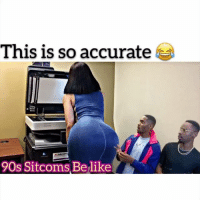Funny, Lol, and Memes: This is so accurate  90s Sitcoms Belike Who thinks this could be a real show 😂😂w- @tutweezy_ @iamgabbygreen - - swipe left 👈🏾 - Follow me @kmoorethegoat @kmoorethegoat @kmoorethegoat - - - sitcoms funny comedy hilarious tvshows networks lol kevinhart kmoorethegoat tutweezy