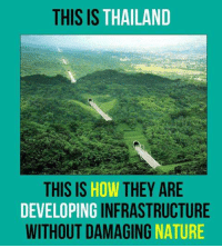Minions Love Nature: THIS IS THAILAND  THIS IS  HOW THEY ARE  DEVELOPING  INFRASTRUCTURE  WITHOUT DAMAGING  NATURE Minions Love Nature