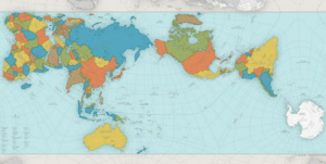 World, Map, and World Map: This is the AuthaGraph- the most accurate world map. It shows the correct relative sizes of the continents and the distances between them.