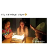 Memes, Best, and Cake: this is the best video  ig: Sexualising that'll be me just eating the cake 😂