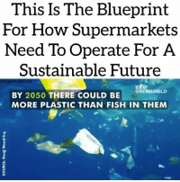 Future, Love, and Memes: This Is The Blueprint  For How Supermarkets  Need To Operate For A  Sustainable Future  avegantakeover  GRE NEELD  BY 2050 THERE COULD BE  MORE PLASTIC THAN FISH IN THEM Love this 🙏❤️ @vegantake0ver sustainability plastic ecofriendly oceans