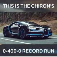 Now that's impressive 😱 . . turbo boost carsofinstagram carswithoutlimits instacars supercar carspotting supercarspotting racecar blacklist cargram carthrottle: THIS IS THE CHIRON'S  0-400-O RECORD RUN Now that's impressive 😱 . . turbo boost carsofinstagram carswithoutlimits instacars supercar carspotting supercarspotting racecar blacklist cargram carthrottle