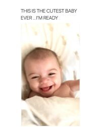 Twitter, Wow, and Girl Memes: THIS IS THE CUTEST BABY  EVER .. I'M READY wow i want 5 via: twitter || sweatnectar