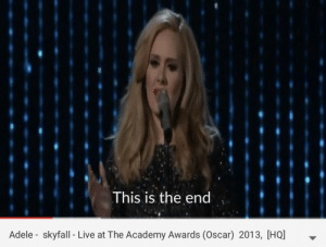 This Is the End Adele Skyfall - Live at the Academy Awards