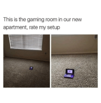 Sick, Gaming, and Set: This is the gaming room in our new  apartment, rate my setup <p>Sick Set Up</p>