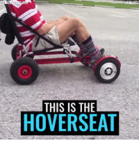 This genius tool turns your hoverboard into an electric go-kart! 🙌: THIS IS THE  HOVERSEAT This genius tool turns your hoverboard into an electric go-kart! 🙌