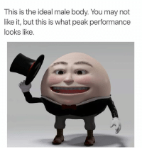 Peak Performance: This is the ideal male body. You may not  like it, but this is what peak performance  looks like