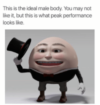 -oldmin: This is the ideal male body. You may not  like it, but this is what peak performance  looks like. -oldmin