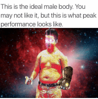 Dank Memes, Following, and May: This is the ideal male body. You  may not like it, but this is what peak  performance looks like If you're not following @memezar you are seriously missing out! 😂