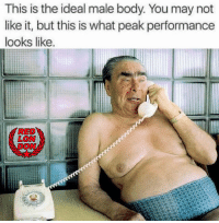 #BodyPositive: This is the ideal male body. You may not  like it, but this is what peak performance  looks like.  RED  LON #BodyPositive