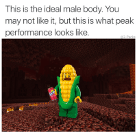 Downhill, May, and You: This is the ideal male body. You  may not like it, but this is what peak  performance looks like  @2-Packs Its only downhill from here