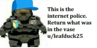 Internet Police: This is the  internet police.  Return what was  in the vase  u/leafduck25