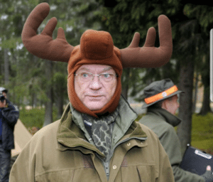 This is the king of Sweden. There are countless of pictures with him wearing silly hats.: This is the king of Sweden. There are countless of pictures with him wearing silly hats.