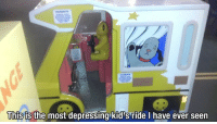 Most Depressing: This is the most depressing kid's ride I have ever seen