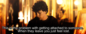 https://iglovequotes.net/: This is the problem with getting attached to someone.  When they leave you just feel lost. https://iglovequotes.net/