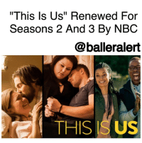 """""""This Is Us"""" Renewed For Seasons 2 And 3 By NBC -blogged by @BenitaShae ⠀⠀⠀⠀⠀⠀⠀⠀⠀ ⠀⠀⠀⠀⠀⠀⠀⠀⠀ NBC has renewed """" ThisIsUs"""" for two additional seasons of 18 episodes each, according to Deadline. ⠀⠀⠀⠀⠀⠀⠀⠀⠀ ⠀⠀⠀⠀⠀⠀⠀⠀⠀ The show ranks as the top new network series of the season, and sealed the deal with three Golden Globes nominations, including a best drama nod in the highly-competitive category, which was the first for NBC in 10 years. ⠀⠀⠀⠀⠀⠀⠀⠀⠀ ⠀⠀⠀⠀⠀⠀⠀⠀⠀ Created by Dan Fogelman, """"This Is Us"""" stars Milo Ventimiglia, Mandy Moore, Sterling K. Brown, Justin Hartley, Chrissy Metz, Susan Kelechi Watson, Chris Sullivan, Ron Cephas Jones. ⠀⠀⠀⠀⠀⠀⠀⠀⠀ ⠀⠀⠀⠀⠀⠀⠀⠀⠀ The family based show, jumps through different years, and tells the story of lives that intertwine and the connections of several people who all share the same birthday. ⠀⠀⠀⠀⠀⠀⠀⠀⠀ ⠀⠀⠀⠀⠀⠀⠀⠀⠀ I'm excited to see what the next two seasons have in store!: """"This Is Us"""" Renewed For  Seasons 2 And 3 By NBC  @balleralert  THIS ISUS """"This Is Us"""" Renewed For Seasons 2 And 3 By NBC -blogged by @BenitaShae ⠀⠀⠀⠀⠀⠀⠀⠀⠀ ⠀⠀⠀⠀⠀⠀⠀⠀⠀ NBC has renewed """" ThisIsUs"""" for two additional seasons of 18 episodes each, according to Deadline. ⠀⠀⠀⠀⠀⠀⠀⠀⠀ ⠀⠀⠀⠀⠀⠀⠀⠀⠀ The show ranks as the top new network series of the season, and sealed the deal with three Golden Globes nominations, including a best drama nod in the highly-competitive category, which was the first for NBC in 10 years. ⠀⠀⠀⠀⠀⠀⠀⠀⠀ ⠀⠀⠀⠀⠀⠀⠀⠀⠀ Created by Dan Fogelman, """"This Is Us"""" stars Milo Ventimiglia, Mandy Moore, Sterling K. Brown, Justin Hartley, Chrissy Metz, Susan Kelechi Watson, Chris Sullivan, Ron Cephas Jones. ⠀⠀⠀⠀⠀⠀⠀⠀⠀ ⠀⠀⠀⠀⠀⠀⠀⠀⠀ The family based show, jumps through different years, and tells the story of lives that intertwine and the connections of several people who all share the same birthday. ⠀⠀⠀⠀⠀⠀⠀⠀⠀ ⠀⠀⠀⠀⠀⠀⠀⠀⠀ I'm excited to see what the next two seasons have in store!"""