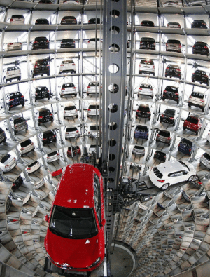 This is what a parking tower at the Volkswagen factory in Wolfsburg looks like. https://t.co/ldTlLYAmQ0: This is what a parking tower at the Volkswagen factory in Wolfsburg looks like. https://t.co/ldTlLYAmQ0