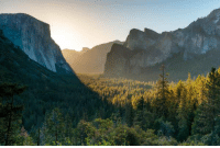 Memes, Sunrise, and 🤖: This is what a sunrise looks like at Yosemite.