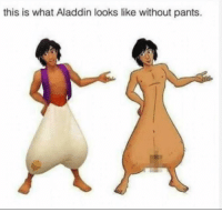 "Aladdin, Beautiful, and Dank: this is what Aladdin looks like without pants. <p>He is beautiful inside and out 😍 via /r/dank_meme <a href=""http://ift.tt/2h8eboK"">http://ift.tt/2h8eboK</a></p>"