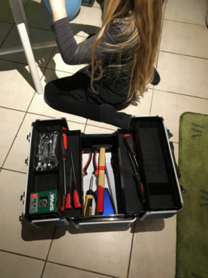 Birthday, Old, and Her: This is what my 7 years old daughter wanted for her Birthday her own ToolBox