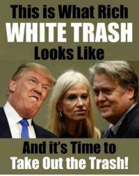 """This is What Rich  WHITE TRASH  Looks Like  And it's Time to  Take Out the Trash! """"Share"""" if you agree!  www.democraticmemes.org"""