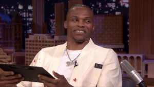 This is what Russell Westbrook thinks about his #NBA2K20 rating of 90.  (Via @FallonTonight)  https://t.co/fDGP4kQcWE: This is what Russell Westbrook thinks about his #NBA2K20 rating of 90.  (Via @FallonTonight)  https://t.co/fDGP4kQcWE