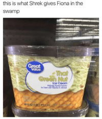 Swamped: this is what Shrek gives Fiona in the  Swamp  Great  Value  Coreen Ice Cream