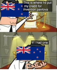 Memes, Aussie, and 🤖: This is where l'd put  Amy credit for  AEinvention pavlova  Co  @freshcleanaussiememes  If I had one *inventing* - who here believes pavlova is Aussie?