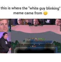 "How did someone manage to capture this moment and make it a meme🤔: this is where the ""white guy blinking""  meme came from How did someone manage to capture this moment and make it a meme🤔"