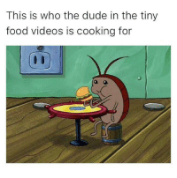 loll: This is who the dude in the tiny  food videos is cooking for loll
