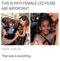 Memes, 🤖, and Looking: THIS IS WHY FEMALE LED FILMS  ARE IMPORTANT  7/10/16, 11:05 AM  That look is everything.
